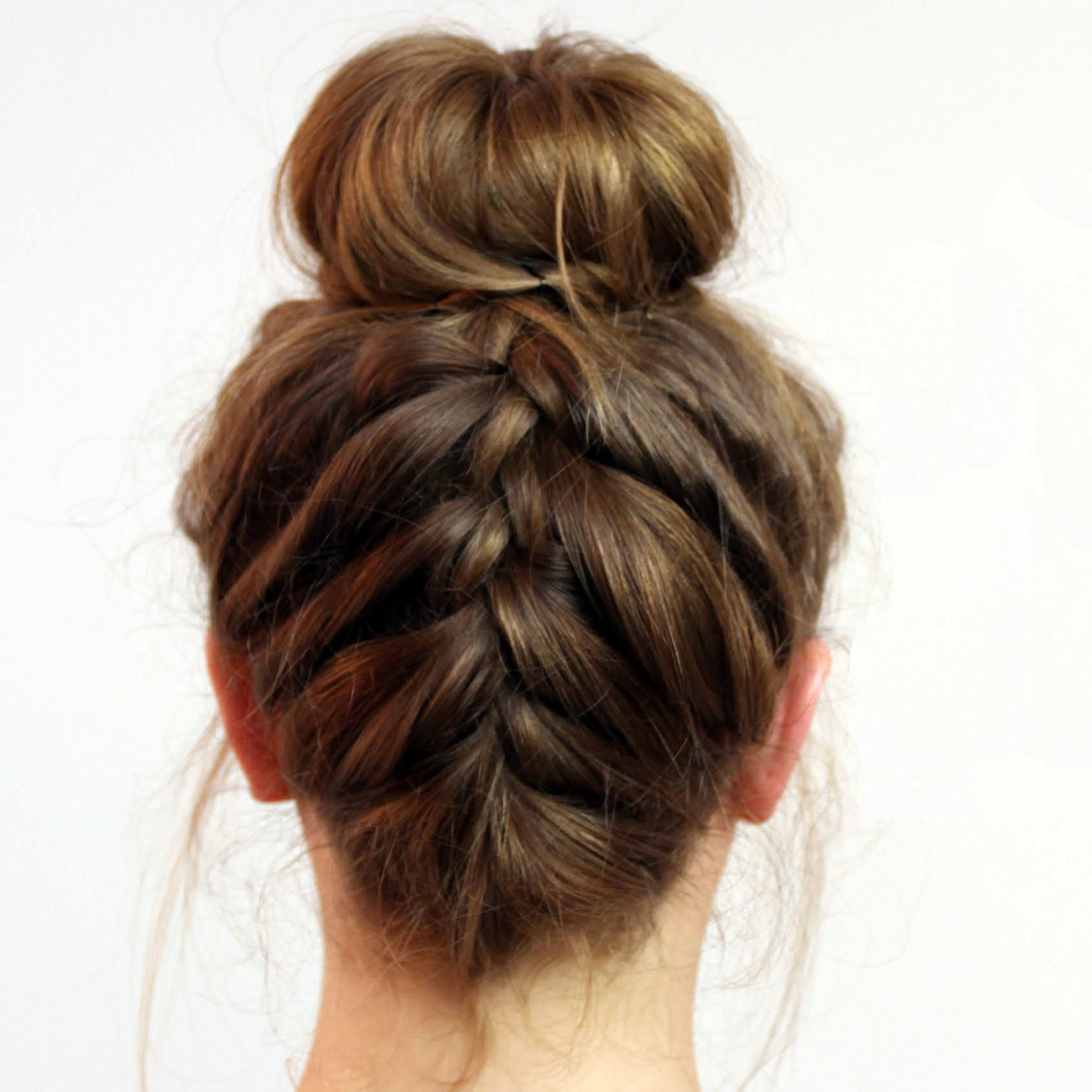 Best Swimming Hairstyles Ever Upside braided bun