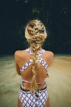 Best Swimming Hairstyles French braid