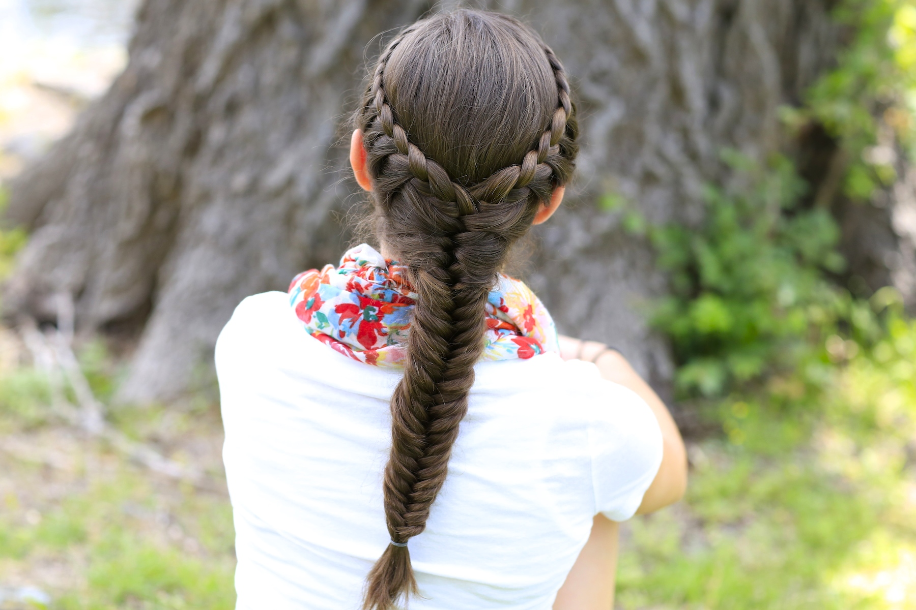 Best Swimming Hairstyles Laced fishtail braid