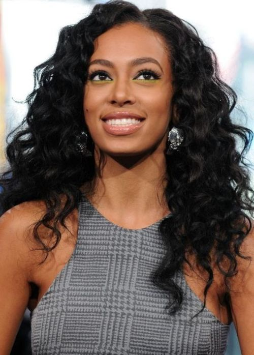 Bright caramel curls african american long hairstyle