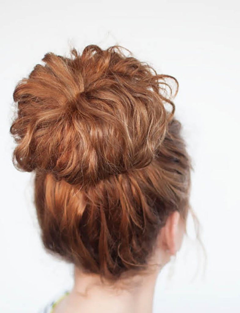 curly doughnut hairstyle