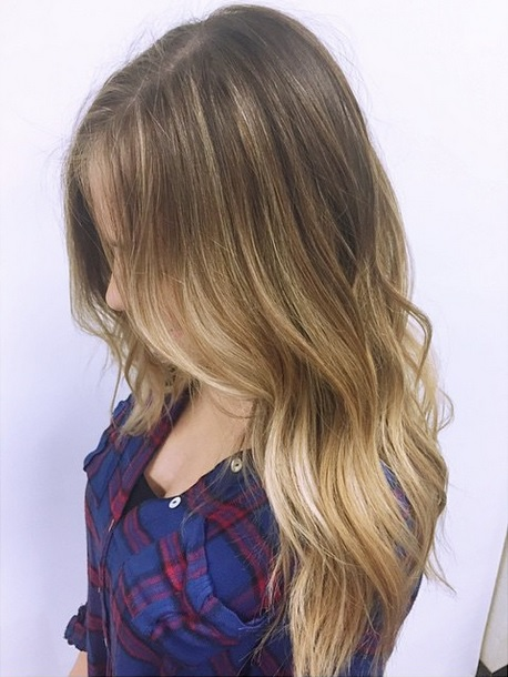 Rooty blonde shade