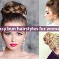Easy bun hairstyles for women