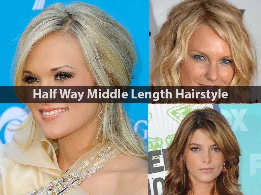 Half Way Middle Length Hairstyle