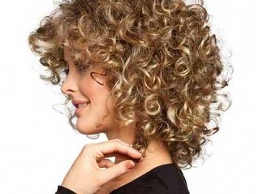 Medium length wavy hairstyles bushy waves