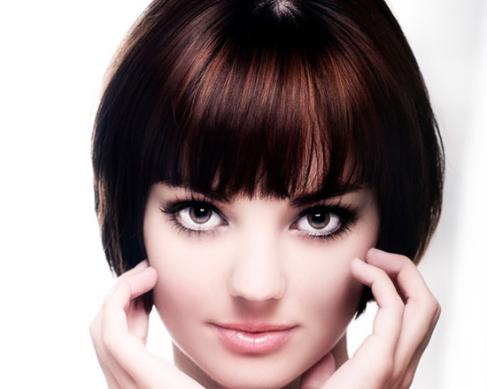 Short Hairstyles for Round Faces Black volume