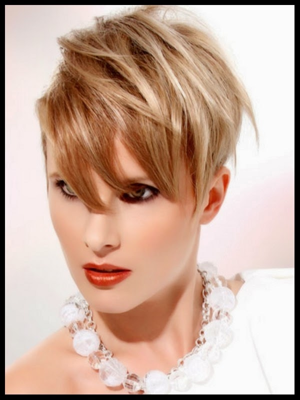 Short Hairstyles for Round Faces Cropped pixie