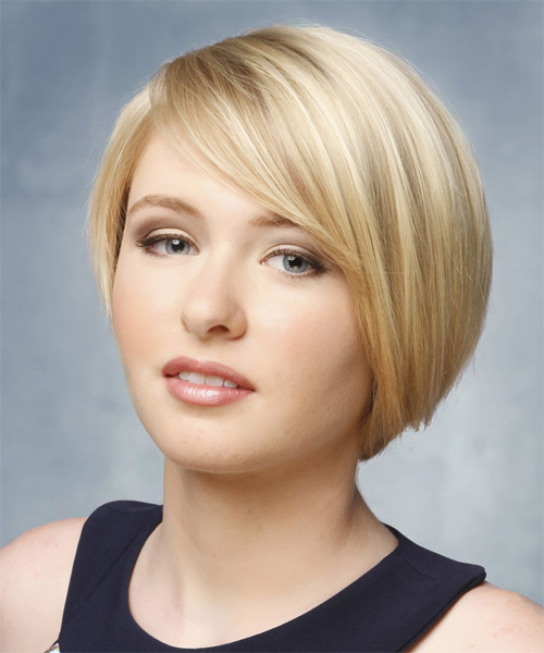 Short Hairstyles for Round Faces Mermaid chic