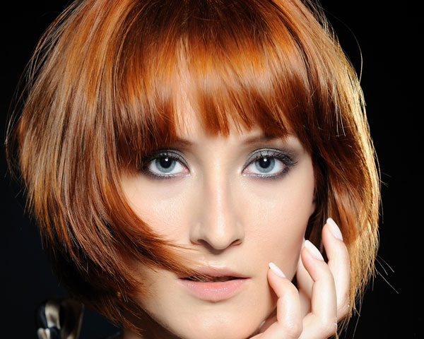 Short layered hairstyles Colored layers