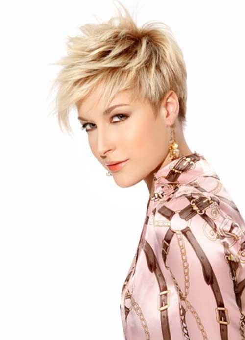 Short layered hairstyles Flared out pixie layers