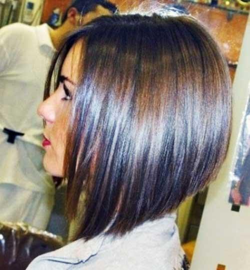 Short layered hairstyles Stack layered bob