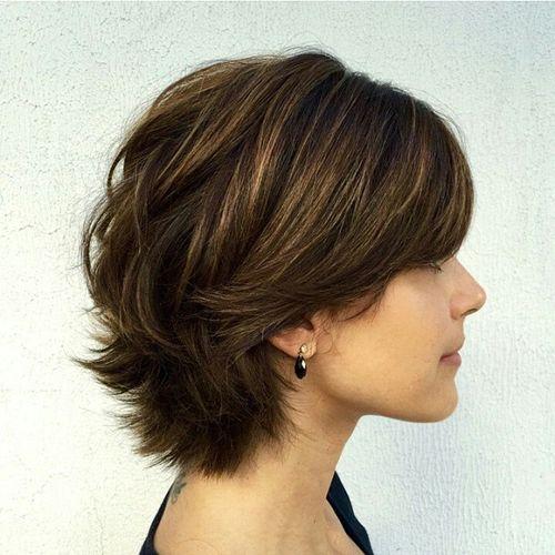 Short layered hairstyles Thick layered bob