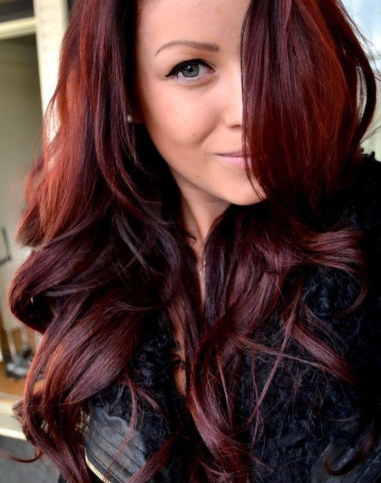 Reddish paste on brown hair
