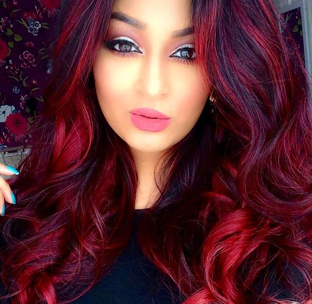 Wild red on brown hair