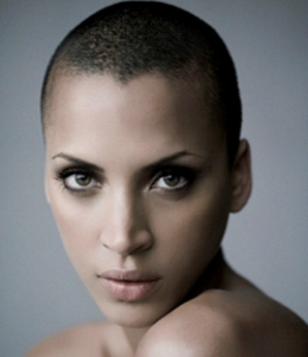 crew cut for american african women for short hairstyle