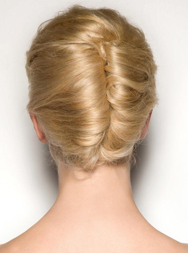 twist and turn bun hairstyle