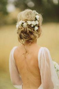 beautiful bouqet bun hairstyle