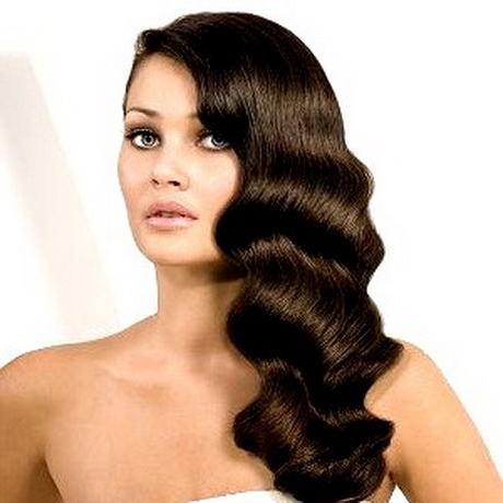 haircuts for long hair Retro curls