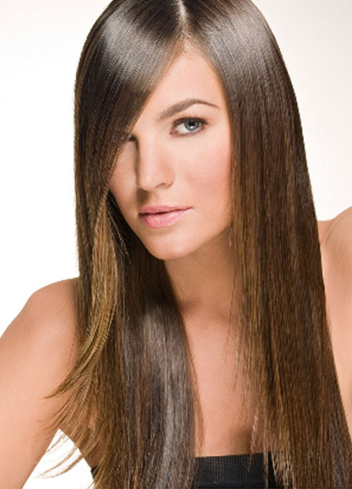 haircuts for long hair Side long layers