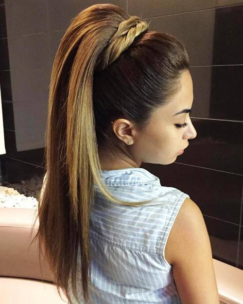 haircuts for long hair Straight Long layered pony