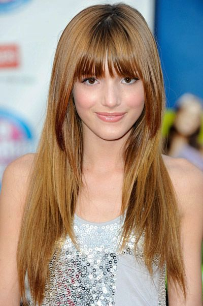 haircuts for long hair Straight long with straight bangs