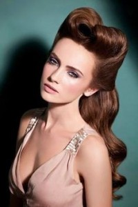 hairstyle-for-women-rolled-up-vintage-curl