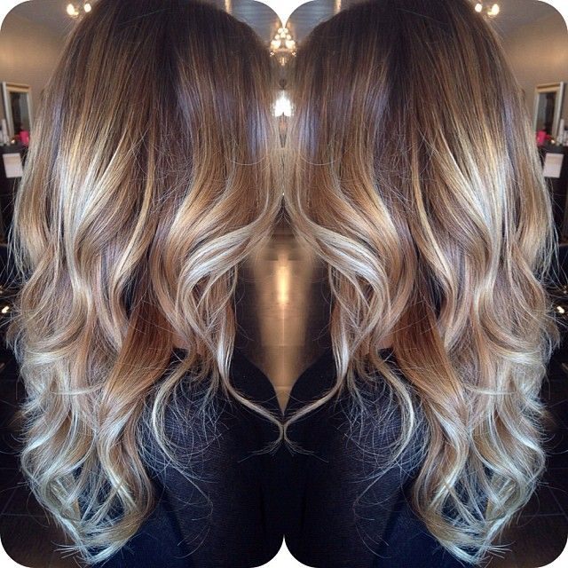 latest balayage hair color ideas Brown mixed balayage color