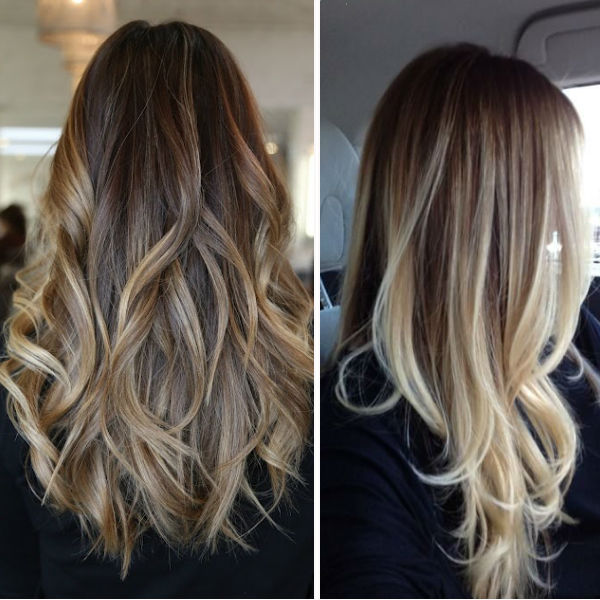 latest balayage hair color ideas Brown ombre with balayage
