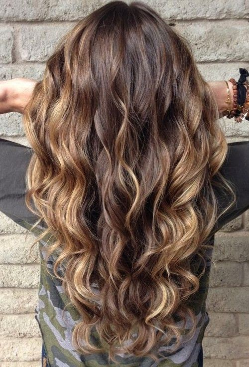 latest balayage hair color ideas Caramel toned layers