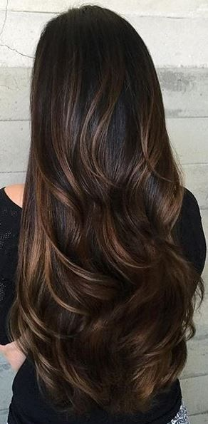 latest balayage hair color ideas Chocolate balayage