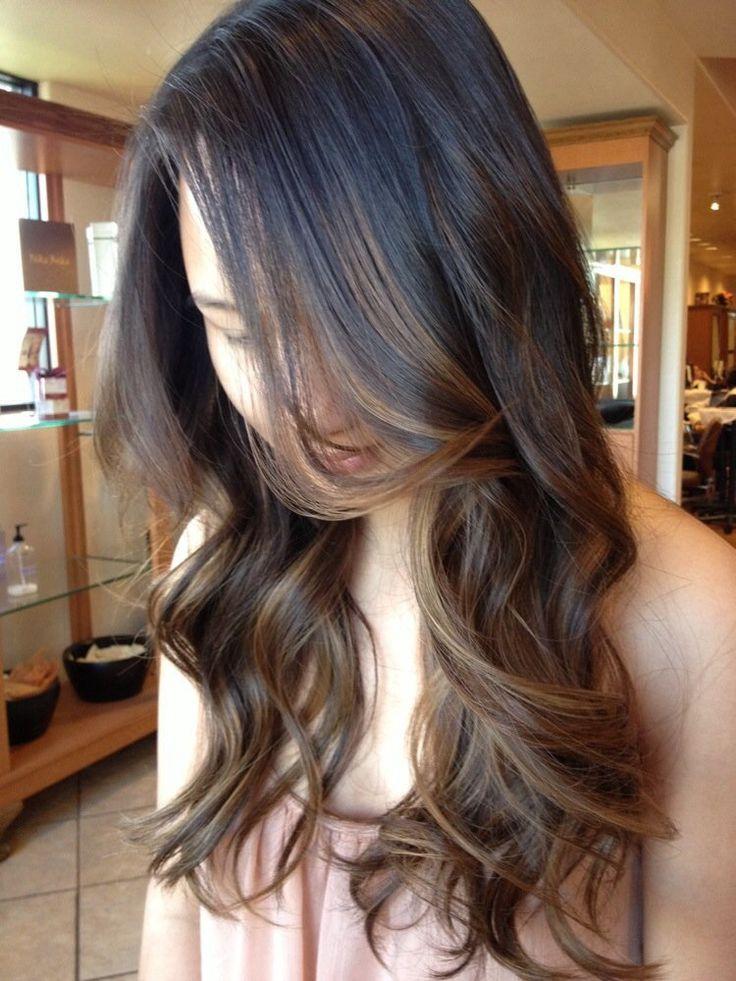 latest balayage hair color ideas Face framing balayage highlight