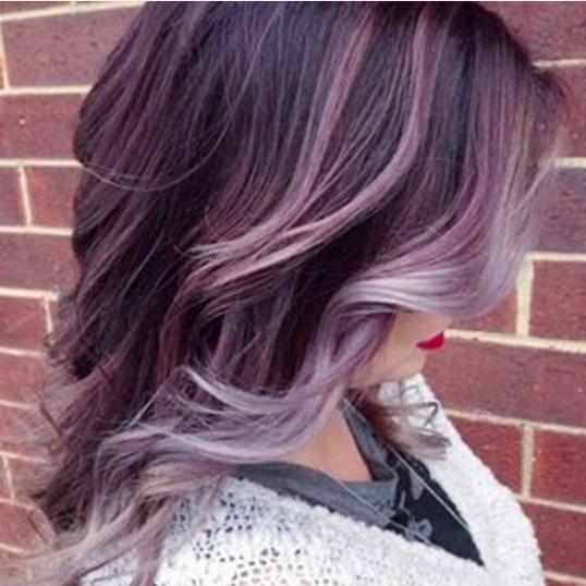 latest balayage hair color ideas Funky balayage