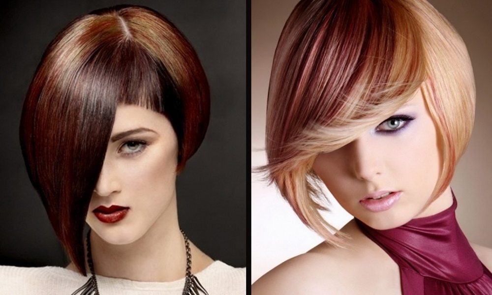 new haircuts for hair stylist Two tone A- line