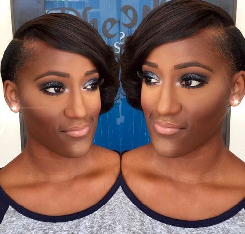 short hairstyle for african american women Sleek bob with under shave