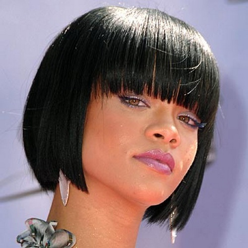 short-hairstyles-for-black-women-short-bob-cut-with-bangs