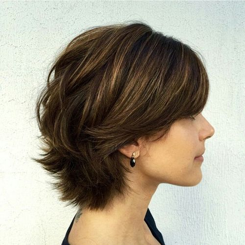 short layered hairstyles Chic short shaggy hairstyle
