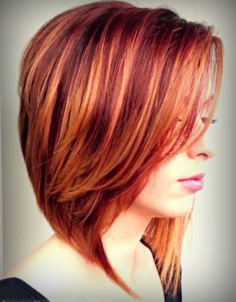 short layered hairstyles Colours on a short shag look