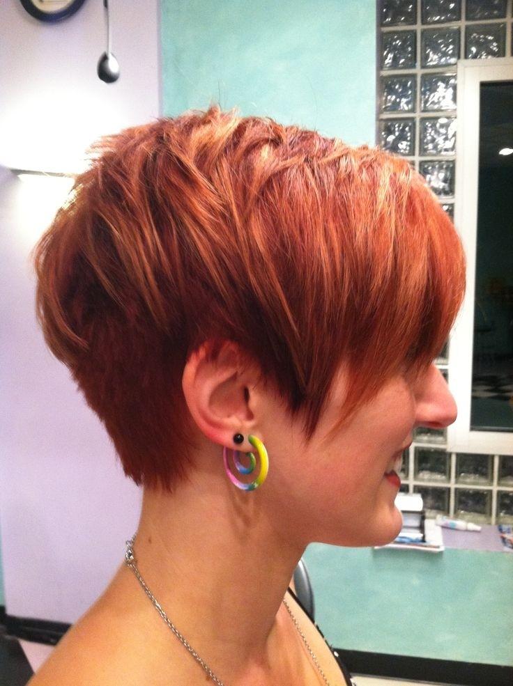 short layered hairstyles Pink shag