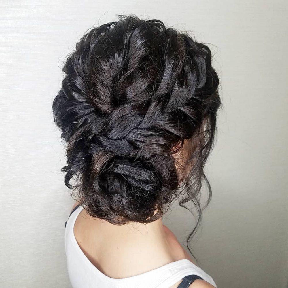 adorable side bun hairstyle