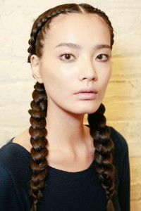 sim ple-straight-center-parted-two-side-braided-pony