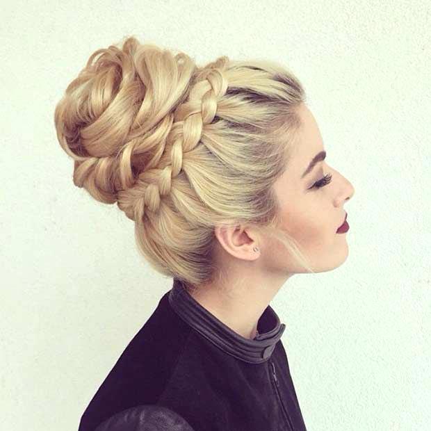 beautiful high volume bun hairstyle