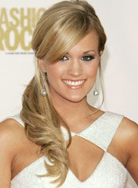 10 Types of Astonishing Side Ponytail wavy pony tail with face vframing bangs