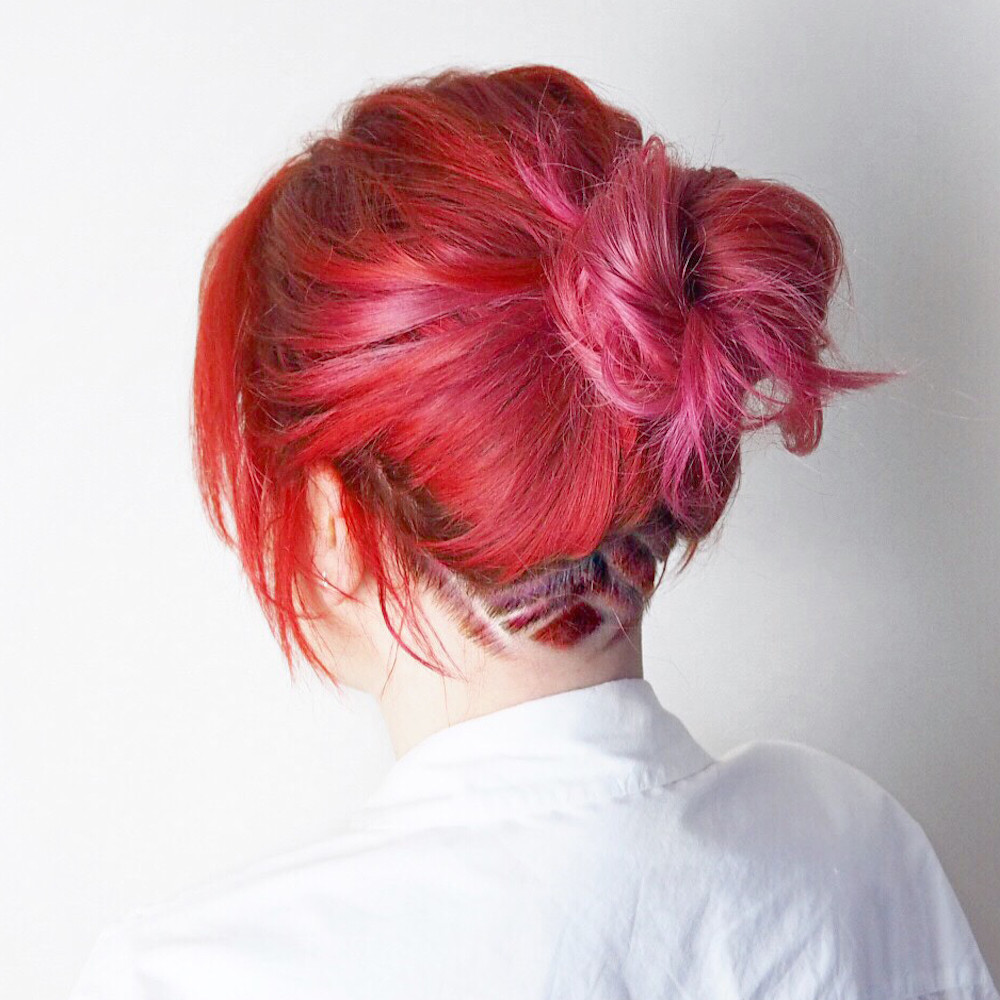 red to pink