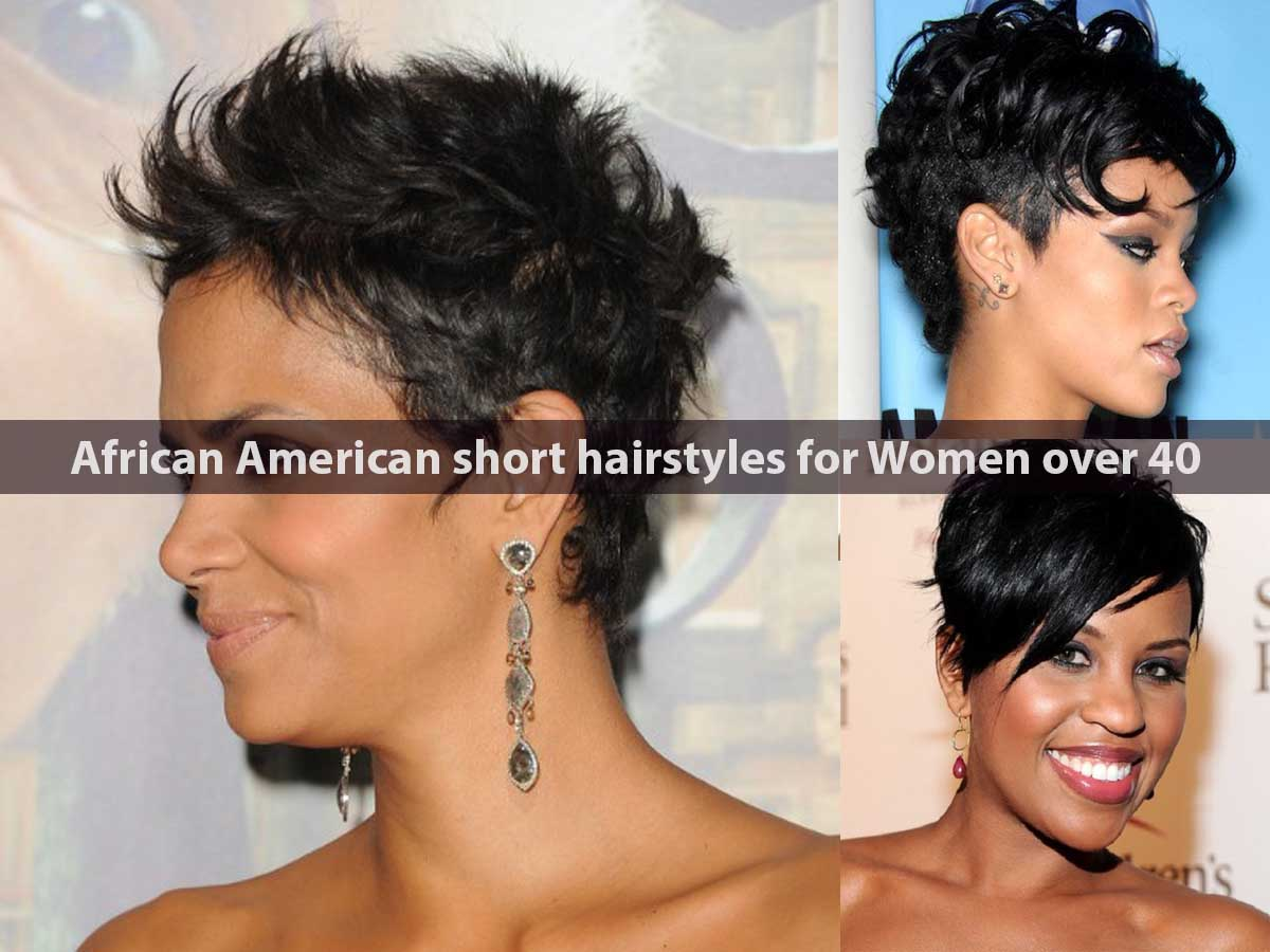 African American short hairstyles for Women over 40