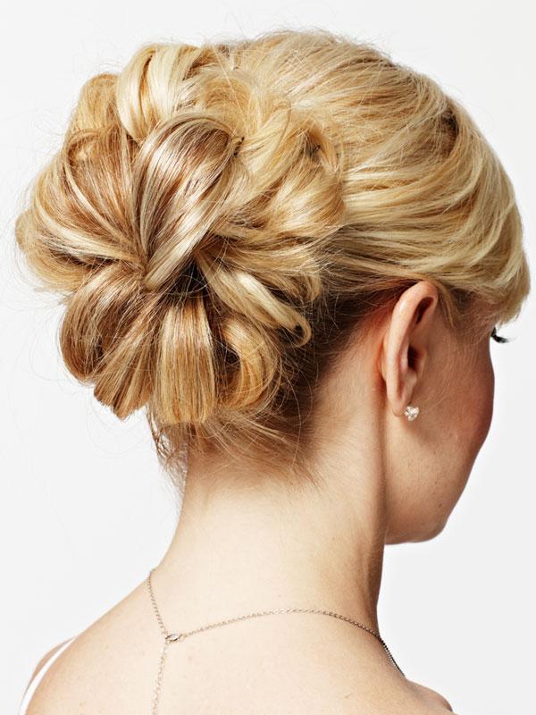 Alluring wedding updo hairstyles flowery bun