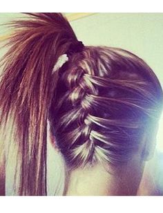 Bold and Beautiful Hairstyles for Gym Braided pig tail pony tail