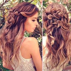 Braided Boho Hairstyles loose opened boho hair with back braid