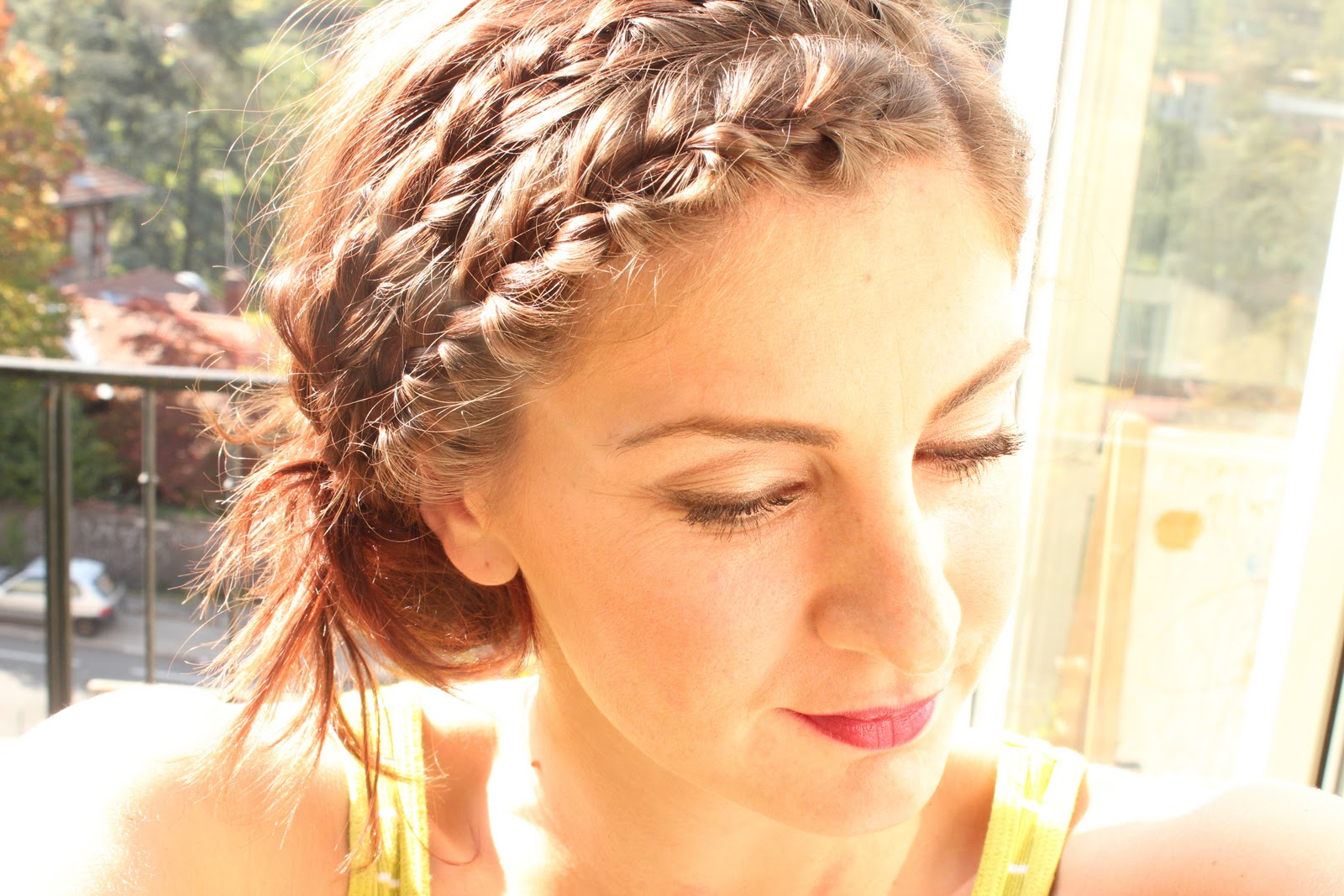 Braided head band hairstyles braided head band updo