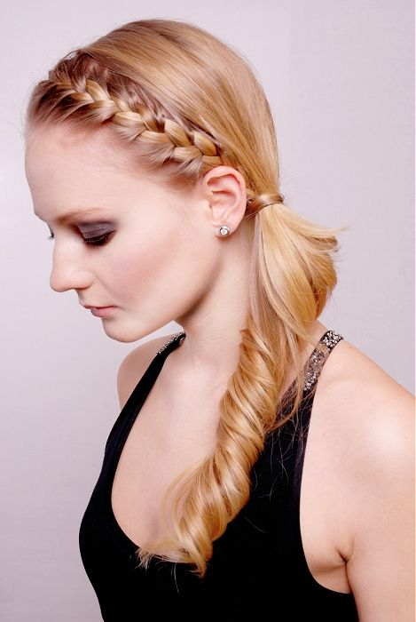 Braided head band hairstyles fishtail braid