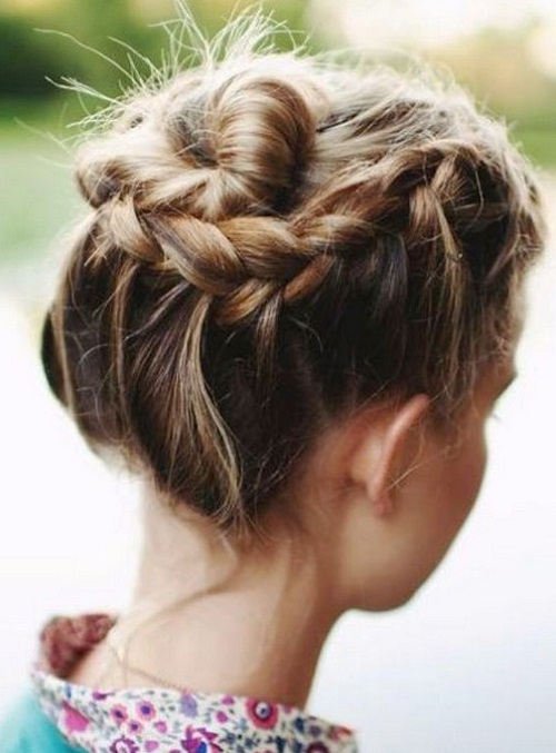 Braids for Medium Hair Braided bun